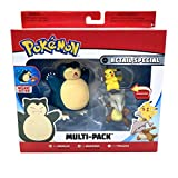 WCT Pokemon Retail Special Deluxe Action Multi-Pack Snorlax Marowak & Pikachu Figures