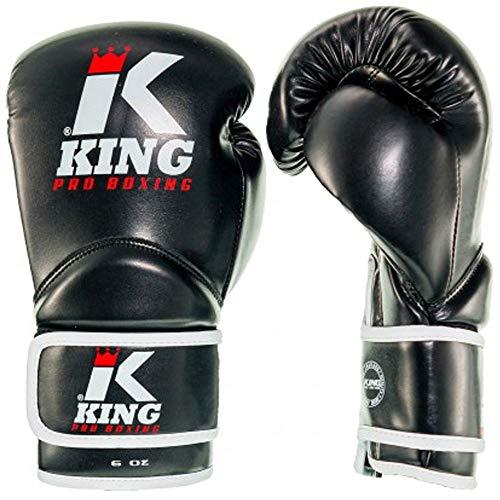 King PRO Boxing Boxhandschuhe, Kinder, schwarz Größe 8 Oz