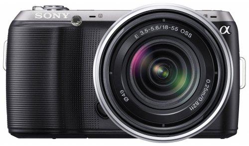 Sony NEX-C3KB Systemkamera (16,2 Megapixel, 7,5 cm (3 Zoll) Display, Full HD, Live View, bildstabilisiert) Kit inkl. 18-55 mm Objektiv schwarz