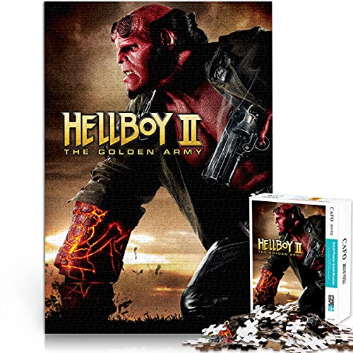 Hellboy II: The Golden Army 1000 Pieces of Difficult Puzzles DIY Toy Puzzle 1000 Piece Anime Puzzle Creative Gifts for Friends 75x50cm
