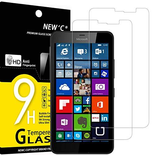 NEW'C 2 Pezzi, Vetro Temperato Compatibile con Nokia Microsoft Lumia 640 XL, Pellicola Prottetiva Anti Graffio, Anti-Impronte, Durezza 9H, 0,33mm Ultra Trasparente, Ultra Resistente
