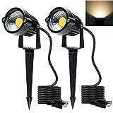 Focos LED para exteriores 5 W, 120 V CA, 3000 K, luz blanca cálida, uso...