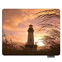 Nicokee Lighthouse Gaming Mousepad Lighthouse with Sunset Mouse Pad Rectangle Mouse Mat for Computer Desk Laptop Office 9.5 X 7.9 Inch Non-Slip Rubber [並行輸入品]
