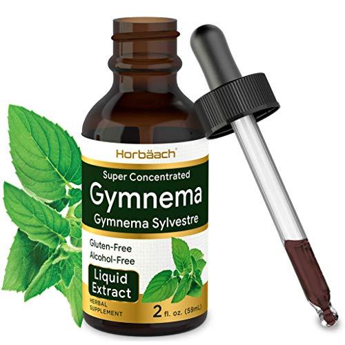 Gymnema Sylvestre Liquid | 2 fl oz | Alcohol Free | Super Concentrated Gymnema Leaf Extract Drops | Vegetarian, Non-GMO, Gluten Free Supplement| by Horbaach