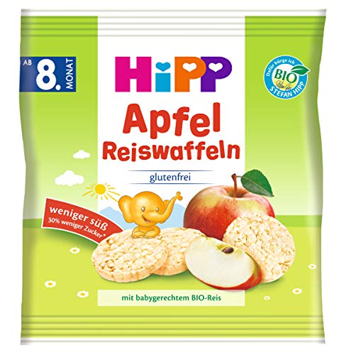 Hipp Knabberprodukte, Apfel Reiswaffeln, 7er Pack (7 x 30 g)