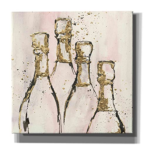 """Epic Graffiti 'Champagne is Grand II' by Chris Paschke, Giclee Canvas Wall Art, 37""""x37"""""""
