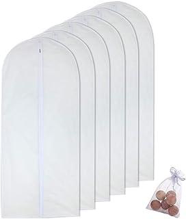 HomeClean Sac de vêtement Transparent Sacs de vêtement Blanc Respirant Zip Complet Housse Anti-poussière pour vêtements Pe...