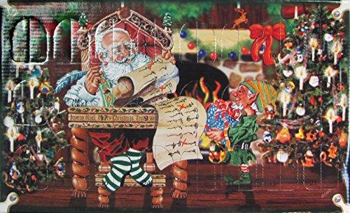 ORIGINAL LAUSCHAER CHRISTBAUMSCHMUCK - Adventskalender mit 24 Mini Glasornamenten, Größe ca. 3 cm