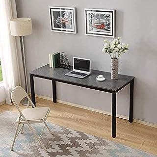 میز بزرگ رایانه ای نیاز دارید - میز تحریر مشکی و سیاه و سفید 60 اینچی ، میز تحریر ، ایستگاه کاری مطالعه کامپیوتر ضد خراش برای خانه / دفتر / خوابگاه AC3CB-152.460