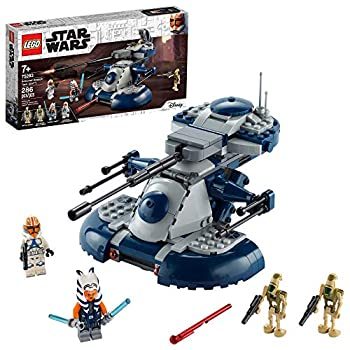 LEGO Star Wars  The Clone Wars Armored Assault Tank  AAT  75283 Building Kit Awesome Construction Toy for Kids with Ahsoka Tano Plus Battle Droid Action Figures  286 Pieces
