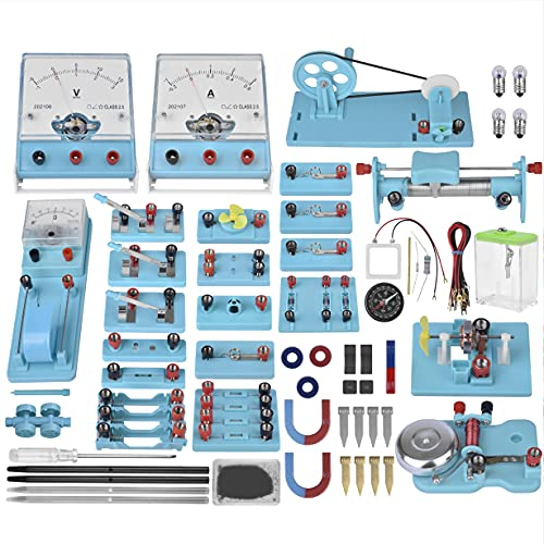 Mysterystone Science Experiment for Kids Electricity and Magnetism Kit for Students Stem Kit Basic Circuit Learning Starter Kit