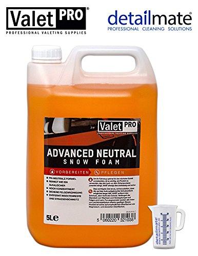 detailmate Auto Pflege Set aus Valet PRO Advanced Neutral Snow Foam 5 Liter Messbecher 50 ml