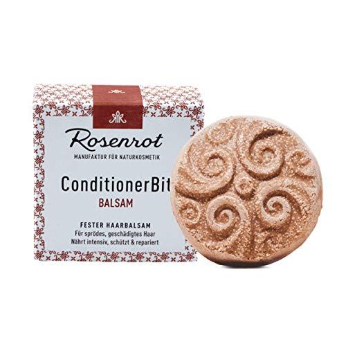 Rosenrot Naturkosmetik - ConditionerBit® - fester Haarbalsam - Für sprödes, geschädigtes Haar - Nährt intensiv, schützt & repariert