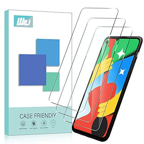 WRJ Displayschutzfolie für Google Pixel 4a 5G, einfache Anbringung, HD, kratzfest, blasenfrei, Härtegrad 9H, gehärtetes Glas