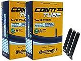 "pneugo! Continental 32-622/47-622 Tour - Cámara de aire para bicicleta (2 unidades, 28"", con válvula automática y 3 desmontadores de neumáticos)"