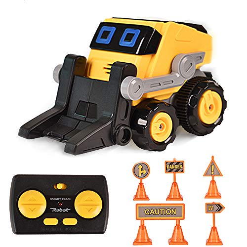 Remote Control Car for Boys, BIBIELF Radio Control Toys for Kid 360° Standing Rotation with Music, 6 Road Signs, Kids Toy Cars for Boys & Girls Birthday, Forklift Car
