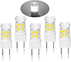 LED G8 Light Bulb, G8 GY8.6 Bi-pin Base LED, Not Dimmable T4 G8 Base Bi-pin Xenon JCD Type LED 120V 50W Halogen Replacement Bulb for Under Counter Kitchen Lighting (5-Pack) (G8 Daylight 6000K)