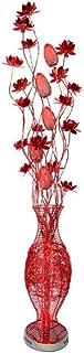 BXZ Lampadaire Mode Moderne Armure De Fil D'aluminium Rouge Argent Fleur De Lotus Forme De Vase Trois Couleurs Gradation L...