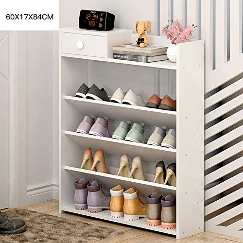 Shoe Rack, Durable Shelves for Heels Boots Slippers Shoe Organizer Space Saving Durable and Stable Shoe Tower Portable,A