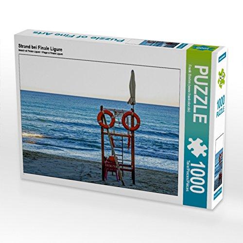 CALVENDO Puzzle Strand bei Finale Ligure 1000 Teile Lege-Größe 64 x 48 cm Foto-Puzzle Bild von Frank Brehm (www.frankolor.de)