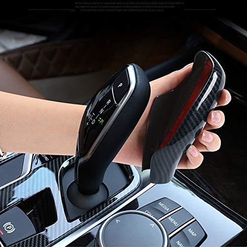 DIYUCAR Auto Automatico Velocità Pomello Del Cambio Testa Copre Adesivi Per 5 7 serie G30 G38 G11 G12 X3 G01 G02 LHD Accessori