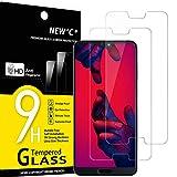 NEW'C Lot de 2, Verre Trempé Compatible avec Huawei P20 Pro, Film Protection écran - Anti Rayures...