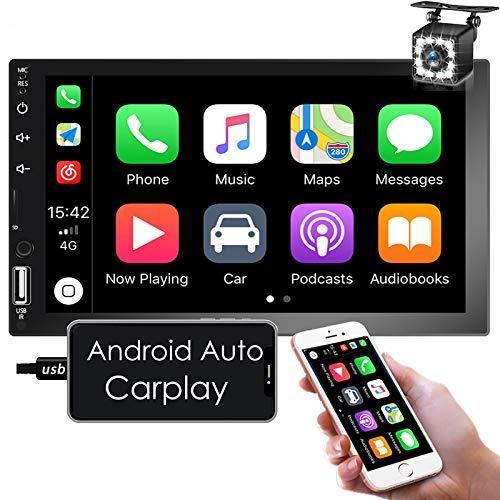 Nhopeew Android Auto/Apple CarPlay Double Din Car Stereo