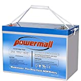 Powermall 12V 100AH Sealed Rechargeable Deep Cycle Battery, Replace UB121000 ML100-12 NPG12-100Ah,...