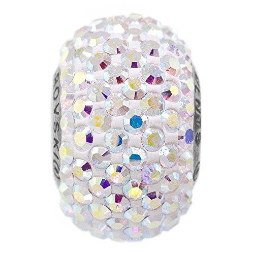Charm para Mujer Compatible Pulsera Pandora de la Marca Swarovski. abalorio de Cristal y Acero Inoxidable