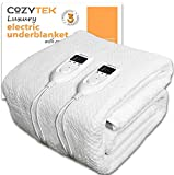 Cozytek Double Electric Blanket Dual Control Double Bed Full Size 193 x 137cm