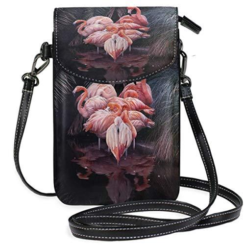 XCNGG Monedero pequeño para teléfono celular Flamingo Cell Phone Purse Wallet for Women Girl Small Crossbody Purse Bags