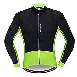 SHINYEVER Fahrradjacke Männer Radsport-Jacken für Herren Fahrrad Winterjacke fürs Fahrrad Fahren und Joggen mit großen Reflektoren (XL)