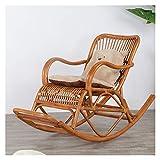LUYIYI Silla de Mimbre Silla Mecedora reclinable casa balcón al Aire Libre jardín Anciano Silla fácil 125x55x92cm (Color : B)