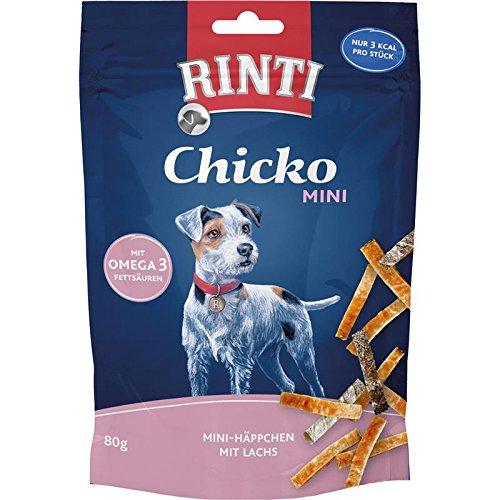 Rinti Chicko Mini Häppchen mit Lachs | 12x 80g Hundesnack