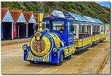 LFNSTXT Rompecabezas de tren de playa de Bournemouth de Inglaterra para adultos y niños, 1000 piezas, juego de rompecabezas de madera para regalos, decoración del hogar, recuerdos especiales de viaje
