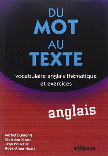 Du mot au texte Anglais