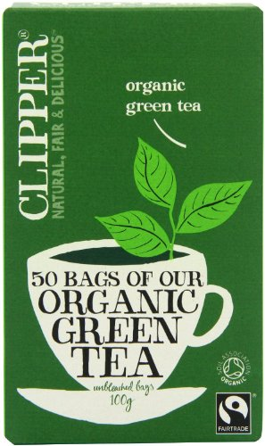 (2 Pack) - Clipper - Ft Organic Green Tea | 50 Bag | 2 PACK BUNDLE