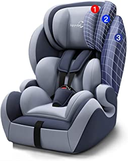 Child Safety Seat Car with Integrated All-Inclusive Baby Car 9 Months-12 Years Old Universal Versatile Convertible Car Seat,Gray