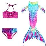 Le SSara Girls Shark Cosplay Traje Traje de baño Sirena Shell Traje de baño Conjunto (130,DH02)