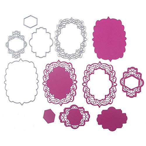Doe-het-zelf stansvorm, kant, kant, kant, grendel, metaal, stansvormen, sjablonen, scrapbooking, voor doe-het-zelf, papier, albums, kaarten, stempels, maken