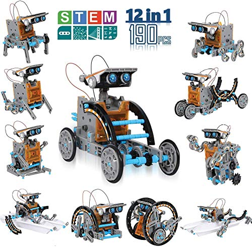 CIRO ソーラー パワー 変身 ロボット キット 太陽光発電 12種類 ロボット 自由研究 組み立て式 自由DIY 科学実験 男の子 おもちゃ 知育玩具 子供 プレゼント学習 おもちゃ