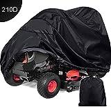 RZiioo wasserdichte Abdeckung für Rasenmäher und Aufsitz-Gartentraktor - Hochleistungs-Außenschutz 210D Oxford (96,4 × 19,7 × 55 Zoll)