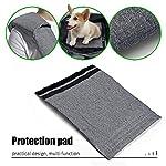 aofook Adjustable Dog Pet Sling Waterproof Carrier Bag with Soft Shoulder Pad Zippered Pocket for Outdoor Travel (Grey, Adjustment) 13