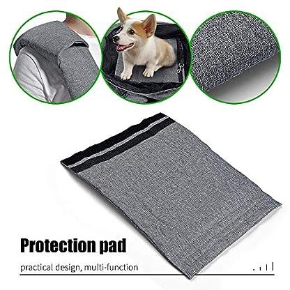 aofook Adjustable Dog Pet Sling Waterproof Carrier Bag with Soft Shoulder Pad Zippered Pocket for Outdoor Travel (Grey, Adjustment) 6