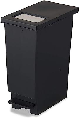 トンボ ゴミ箱 30L 日本製 フタ付き プッシュタイプ ペダル式 ブラック ネオカラー 新輝合成