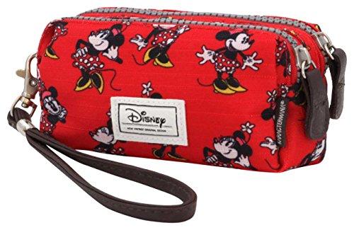 Disney Classic Minnie Cheerful Trousse de Toilette, 14 cm, Rouge (Rojo)