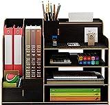 Catekro Boîte de rangement en bois massif de super grande capacité Porte-stylo/étagère/support utilitaire, 39x29x28cm