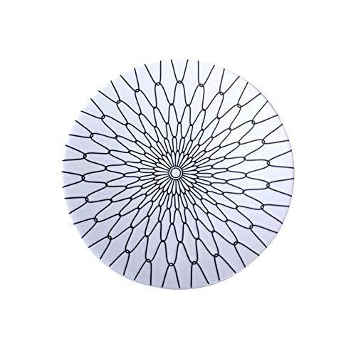 YAeele Ceramic tentempié Sencillo Filete Placa japonés y Coreano Platos Plato Negro Mate Western Hotel Vajilla Pasta Flower Plate sección Neta Blanco Mate 8,25 Pulgadas Tazón Fácil de Limpiar