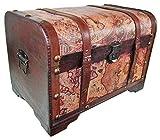 Das Kostümland Cofre del tesoro pirata de madera con mapa, tamaño grande