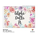 Pro-Graphx Alpha Delta Pi Greek Sorority & Fraternity Flag Officially Licensed, Tapestry, Display Banner, Sign, Letter Pattern Large Decor - 3 feet x 5 feet - New Floral